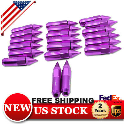 Purple 20 PCS M12X1.5mm Lug Nuts Spiked Extended Tuner Aluminum Wheels Rims Nut