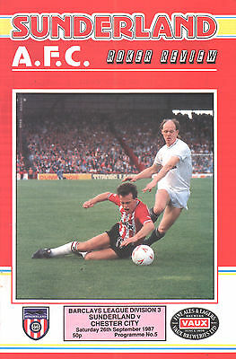 1987/88 Sunderland v Chester City, Division 3, PERFECT CONDITION