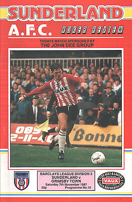 1987/88 Sunderland v Grimsby Town, Division 3, PERFECT CONDITION