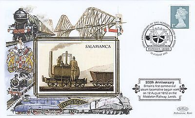 (02940) GB Benham Cover Trains Salamanca Steam 200 yrs Hunslet Leeds 12 Aug 2012