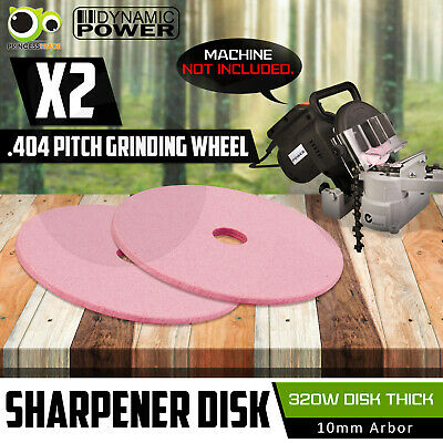 320W Chainsaw Sharpener Chain Saw Bench Mount Electric Grinder Thick Disk X2