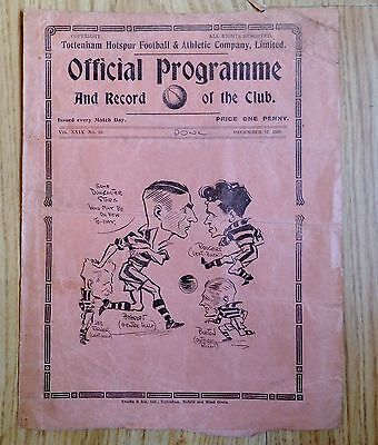 Rare 1936 Tottenham Hotspurs Football & Athletic Company v Doncaster Rovers