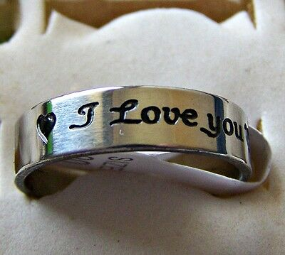 I_Love_You  ~ Size:8.5 ~ S/steel  ~ Ring ----- (Great_Gift)