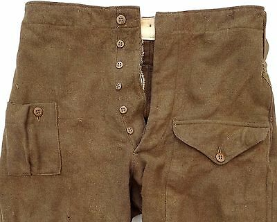 1943 WWII BRITISH ARMY BATTLEDRESS US MADE THRU-FIT TROUSERS Sz 9 MAJOR CATLING