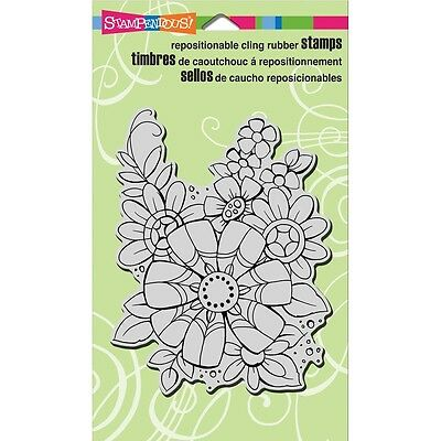 "Stampendous Cling Stamp 5.25""X3.75"" - Flower Pizazz"