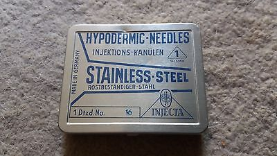 Vintage box of  Hypodermic Needles 1970's Germany