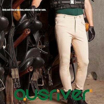 Clearance Horse Riding Breeches Slim Knee Patch Mens Full seat Breeches