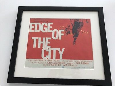 Original Saul Bass US Lobby Title Card Movie Film Poster Edge of the City 1957