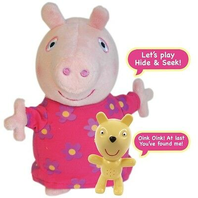 Peppa Pig Brand New Hide and Seek Peppa Electronic Soft Toy - Unused In Box