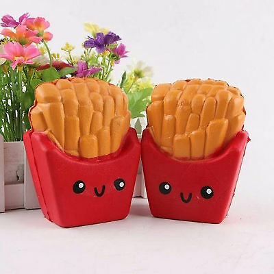6 Second Slow Rising  french fries  12CM Squishy kawaii   SqueezeToy