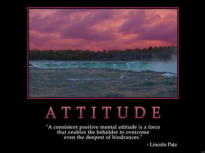 Attitude Quote Motivational Wall Print POSTER AU