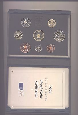 1994 Proof Set With £2 Coin  Complete With Coa In Blue Case