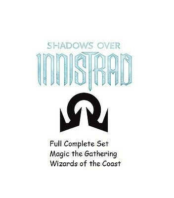 Shadows Over Innistrad Complete Set Magic the Gathering Sealed/NEW Wizards