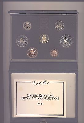 1988 Proof Set Of Coins  Complete With Coa In Blue Case