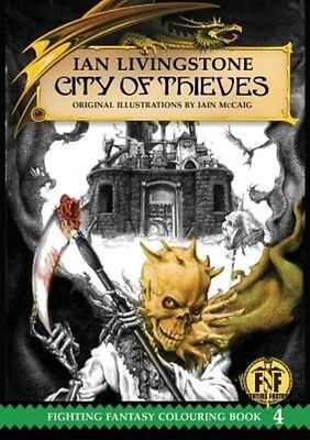 Official Fighting Fantasy Colouring Book 4: City of Thieves by Ian Livingstone P