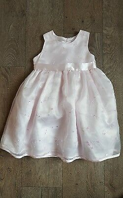 Pale Pink Party/bridesmaid Dress Age 12- 18 Months