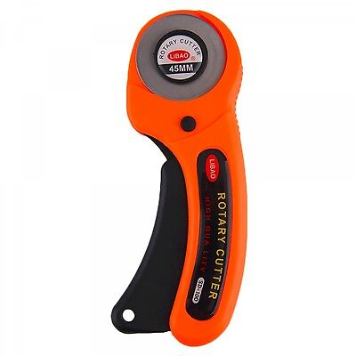 Rotary Cutter Fabric Cutting Craft Tool Sewing Quilting Blade 45mm Craftsman DIY