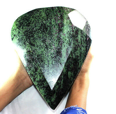 38675 Cts AMAZING 100% NATURAL A+ RUBY ZOISITE FACETED CUT PEAR SHAPE GEMSTONE
