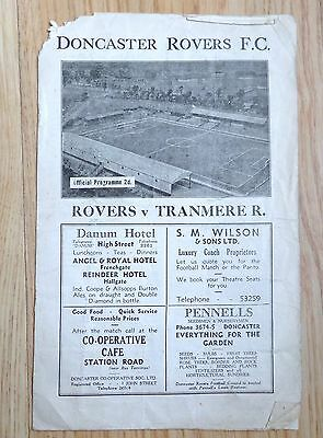 1946 Doncaster Rovers V Tranmere Rovers