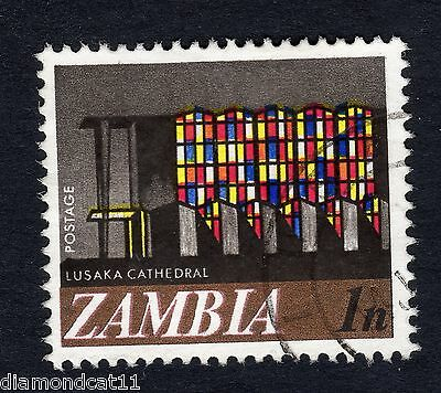 1968 Zambia Lusaka Cathedral 1n SG 129 Fine Used R12186