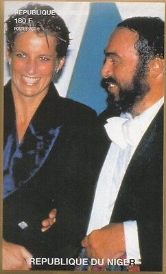 Lady Diana Princess Of Wales Pavarotti Imperforated 1997 Mnh Stamp Sheetlet