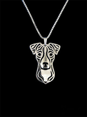 Jack Russell Terrier Pendant Necklace Silver ANIMAL RESCUE DONATION