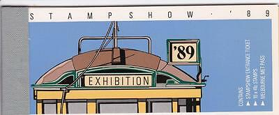 Australia 1989 Booklet - Stamp Show with Tram Ticket $4.10- Complete MNH