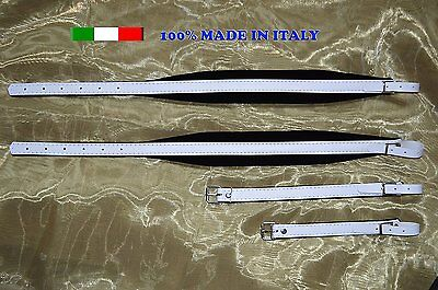 Accordion straps leather with velvet padding 6CM 100% made in Italy #HI