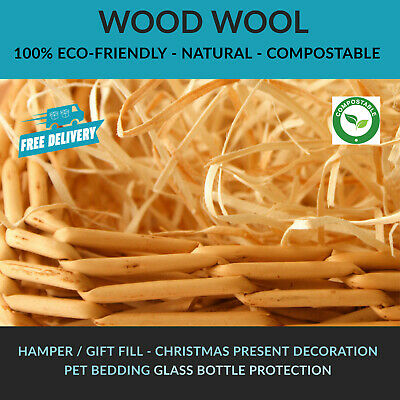 Wood Wool Packaging Hamper Fill Filling Christmas - MANY QUANTITIES AVAILABLE