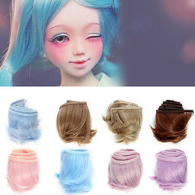 15cm DIY Doll Wig High-temperature Wire for 1/3 1/4 1/6 BJD SD Curly bangs Hair