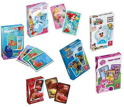 FINDING DORY PAW PATROL CARS PRINCESS SNAP Kids Playing Cards Travel Disney NEW