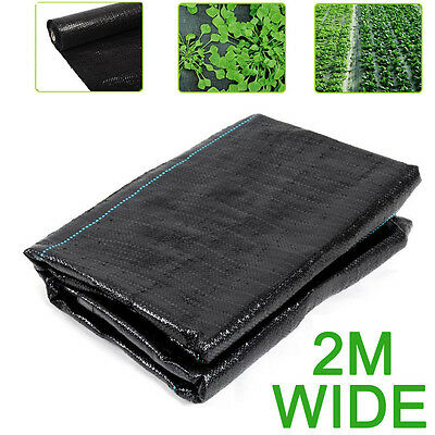 2M wide Weed Pest Control Fabric Ground Cover Membrane Landscape Mulch Driveway