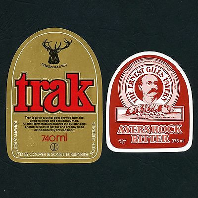 Ayers Rock Bitter and Coopers Trak Beer Labels