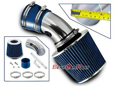 BCP BLUE 00-05 Chevy Impala 3.8L V6 Air Intake Racing System + Filter