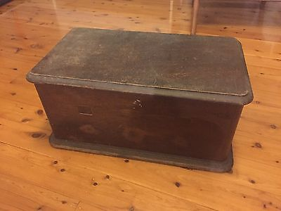 Vintage Retro Timber Chest Box Wooden Rustic Trunk