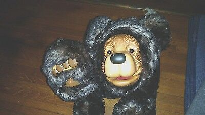 Rare Artist Proof Signed Over 2ft Raikes Black Grizzly Bear Mohair Wood OOAK?