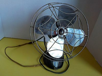 Vintage 12 Inch Eskimo Desk Fan Steampunk Heavy Retro Decor