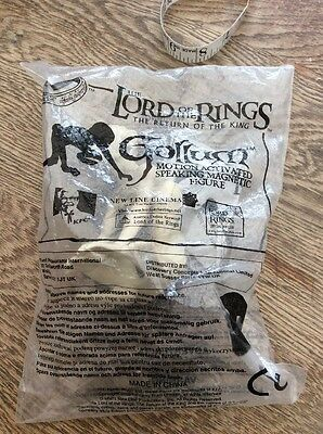 Gollum Lord of the Rings Motion activated figure KFC toy NEW in packaging 2003