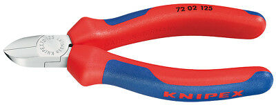 Knipex 72 02 125 Flush Cut Diagonal Side Cutters for Lead Plastics Cable Ties