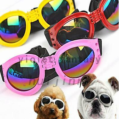 Foldable Pet Dog Sunglasses UV Protection Anti-wind Goggles Puppy Eye Wear