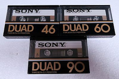 SONY DUAD 46/60/90 3 cassette tapes № 728
