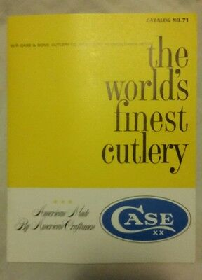 W.r.case Knife Cutlery Catalog Number 71