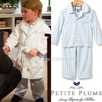 Pr George Luxury Gingham Pajamas Kids Boys Girls Sz 1-14 NWT Checks Sleepwear