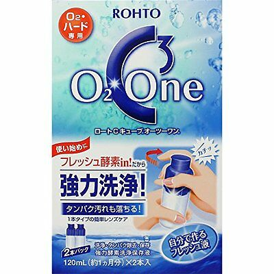 ROHTO C Cube O2 One Contact Lens Cleaner 120ml x 2 F/S
