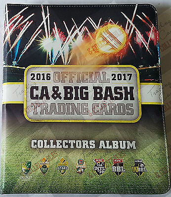 GREAT GIFT IDEAS ~ 2016-17 tap n play CA / BBL set + folder + bonus album card