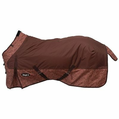 "Tough-1 600D Waterproof Turnout Print 84"" Tooled Leather Print Brown"