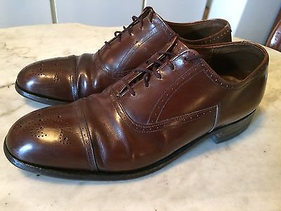 Vtg '1970 DACK'S CANADA  derby wingtip casual dress mens shoes size 10