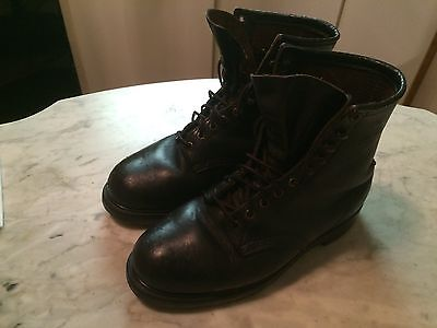 vintage red wing steel toe work worker mens boots sz 9.5 gay interest