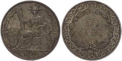 40262) 50 Centimes, 1936, Indochina, vz.
