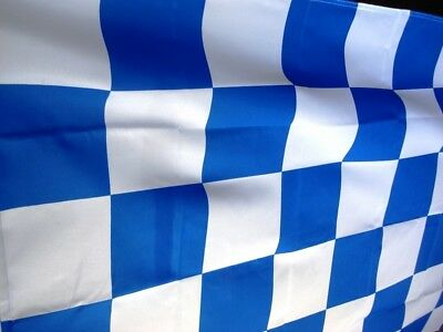 FLAG Flagge 5ft x 3ft 150cmx90cm Blau & Weiss Chequered AT